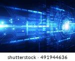 vector digital technology... | Shutterstock .eps vector #491944636
