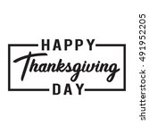 happy thanksgiving day.... | Shutterstock .eps vector #491952205