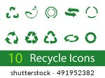 vector recycle signs | Shutterstock .eps vector #491952382