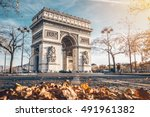 Arc De Triomphe Located In...