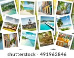 cruise memories   summer... | Shutterstock . vector #491962846