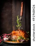 Roasted Christmas Ham With For...