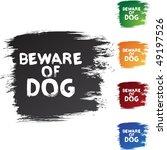 beware dog | Shutterstock .eps vector #49197526