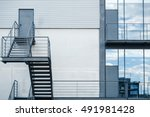 business building with metal...   Shutterstock . vector #491981428
