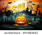 halloween sale. | Shutterstock .eps vector #491983042