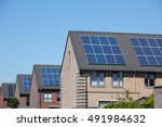 modern houses with solar panels ...