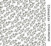 seamless pattern with grass....   Shutterstock .eps vector #491994922
