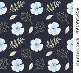 seamless pattern with turquoise ... | Shutterstock . vector #491995456