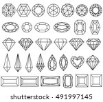 graphic drawing gemstone... | Shutterstock . vector #491997145