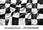checkered black and white flag  | Shutterstock . vector #492004888