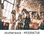 enjoying bright moments.... | Shutterstock . vector #492006718