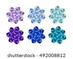 vector set of bright light blue ... | Shutterstock .eps vector #492008812