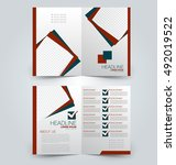 abstract flyer design... | Shutterstock .eps vector #492019522