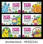 easter cards vector set   Shutterstock .eps vector #49202161