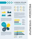 infographic elements collection ... | Shutterstock .eps vector #492025366