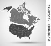 canada  usa | Shutterstock .eps vector #492025462