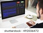 stock marketing trade economic... | Shutterstock . vector #492036472