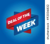 deal of the week arrow tag sign. | Shutterstock .eps vector #492036832
