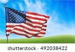 american flag. | Shutterstock . vector #492038422