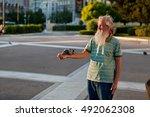 athens  greece   04 27 2012  an ... | Shutterstock . vector #492062308