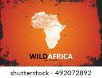 africa logo. wild africa design.... | Shutterstock .eps vector #492072892