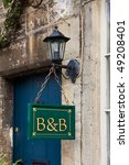 Bed And Breakfast Sign Board I...