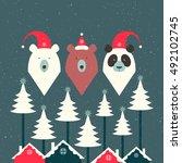 white bear  brown bear and...   Shutterstock .eps vector #492102745