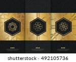 vector set of templates... | Shutterstock .eps vector #492105736