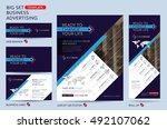 vector brochure flyer design... | Shutterstock .eps vector #492107062