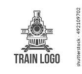 train logo badge   Shutterstock .eps vector #492109702