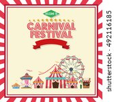 activities of carnival and... | Shutterstock .eps vector #492116185