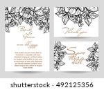 vintage delicate invitation... | Shutterstock . vector #492125356