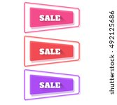set of abstract plastic banners ... | Shutterstock .eps vector #492125686