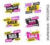black friday sale banners set... | Shutterstock .eps vector #492130912