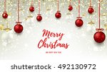 christmas web banner with red...   Shutterstock .eps vector #492130972