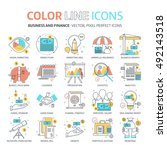 color line  business and... | Shutterstock .eps vector #492143518