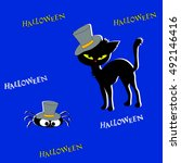 halloween banners with black... | Shutterstock . vector #492146416