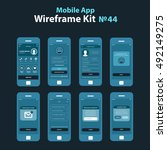 mobile wireframe app ui kit