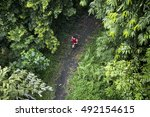 high angle view of a athletic...   Shutterstock . vector #492154615