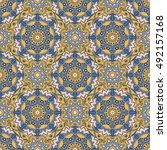 seamless oriental ornamental... | Shutterstock .eps vector #492157168