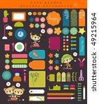 sweet scrapbook collection | Shutterstock .eps vector #49215964