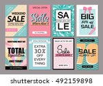 set of social media sale... | Shutterstock .eps vector #492159898