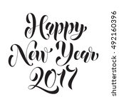happy new year 2017 modern... | Shutterstock .eps vector #492160396