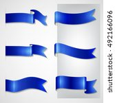 vector ribbons set | Shutterstock .eps vector #492166096