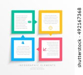 colorful business infographics... | Shutterstock .eps vector #492167368