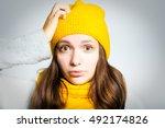Beautiful Winter Young Woman...