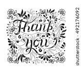 thank you hand lettering  ...   Shutterstock .eps vector #492176092