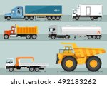 different commercial truck.... | Shutterstock .eps vector #492183262