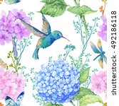 Seamless Pattern Watercolor...