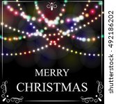 christmas  new year card.... | Shutterstock .eps vector #492186202